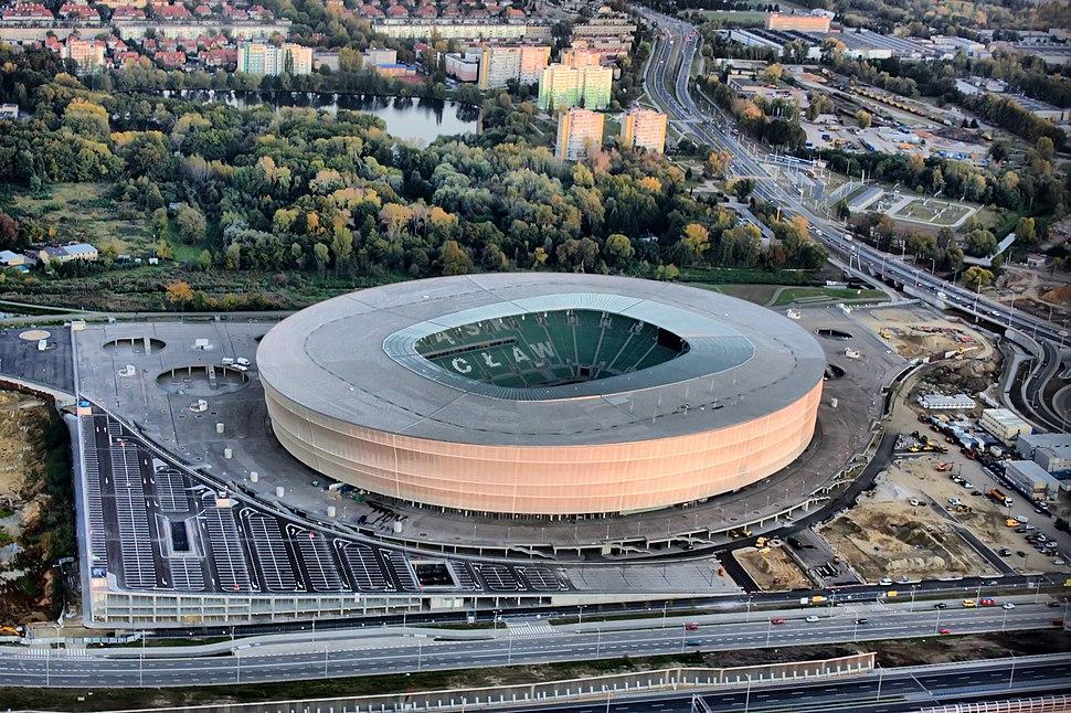 Stadion Wroclaw z lotu ptaka