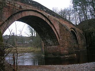 Stair, East Ayrshire - Image: Stair Bridge over River Ayr. 2010