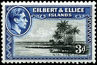 Kiribati - Stamp with portrait of King George VI, 1939