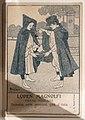 Stamperia gambi, cartolina pubblicitaria per loden magnolfi, firenze 1904.jpg