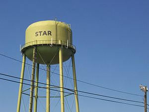 Star, North Carolina - The water tower in Star