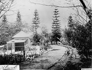 Queensland Acclimatisation Society - Aviary and acclimatisation gardens, Bowen Park, Brisbane, circa 1889