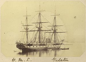 StateLibQld 1 254247 Three masted sailing ship H.M.S. Galatea, ca. 1868.jpg