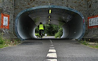 Bristol and Bath Railway Path - The Bristol and Bath cycle path passes under Station Road in Fishponds, Bristol