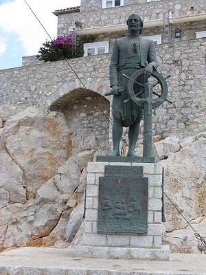 Andreas Miaoulis - Statue in Hydra commemorating Andreas Miaoulis.
