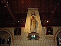 Statue of St Lucius, Castell Coch.jpg