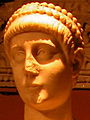 Statue of emperor Valentinian II detail (cropped).JPG