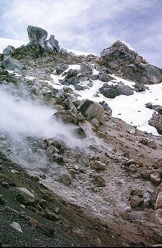 Coropuna - Apparent fumaroles on Coropuna