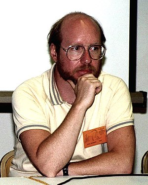 Steve Englehart - Englehart photographed in 1982 at Comic-Con