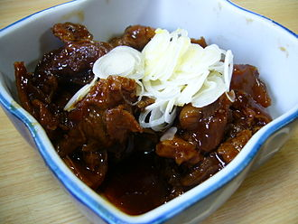Tendon as food - Image: Stewed beef tendon,gyusuji nikomi,katori city,japan