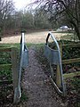 Stile into car park, Rowthorne - geograph.org.uk - 659432.jpg
