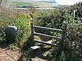 Stile on footpath towards Kimmeridge - geograph.org.uk - 1632872.jpg