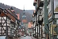 Stolberg (Harz), the lower part of the Rittergasse and the Seigerturm.jpg
