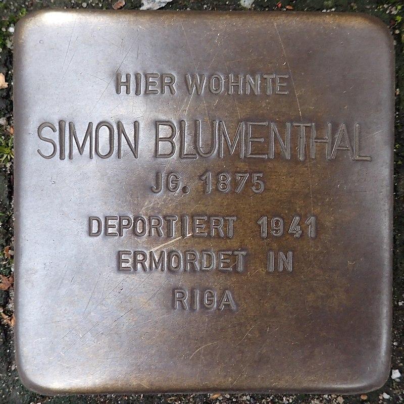 Stolperstein für Simon Blumenthal