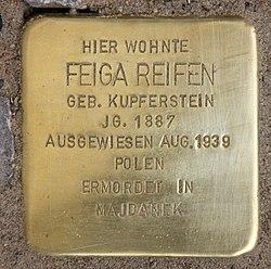 Photo of Feiga Reifen brass plaque