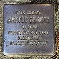 Stolperstein Puderstr 22 (Plänt) Arnold Graetz.jpg