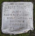 Stolperstein Solingen Krausen 1-3 Hans Debus.jpg