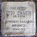 Stolperstein Stierstr 19 (Fried) Otto Ewarth.jpg