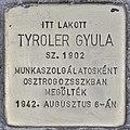 Stolperstein für Gyula Tyroler (Budapest).jpg