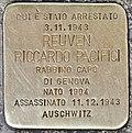 Stolperstein für Reuven Riccardo Pacifici.JPG