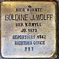 Stolpersteine Höxter, Goldine J. Wolff (Marktstraße 27).jpg