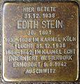 Stolpersteine Köln, Edith Stein - 3 (Vor den Siebenburgen 6).jpg