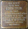 Stolperstein for Edith Stein - 3 (Before the Siebenburgen 6)