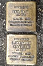 Stolpersteine in Mannheim, Mittelstr.jpg