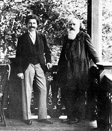 Brahms (rechts) mit Johann Strauss (Sohn) (1894) (Quelle: Wikimedia)