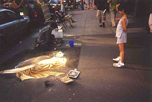 Street painting - A street painter working in New York City