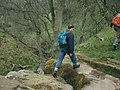 Striding across Lumb Spout - geograph.org.uk - 1433492.jpg