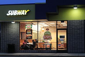 Subway (restaurant) - Subway restaurant in Pittsfield Township, Michigan (2011)
