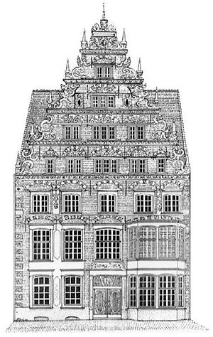 Suding & Soeken building, Bremen - The facade in 1901