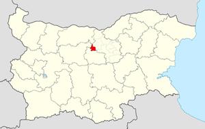 Suhindol Municipality - Image: Suhindol Municipality Within Bulgaria