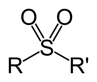 Sulfonyl - A sulfone. It consists of a sulfonyl group bonded with two hydrocarbon substituents.