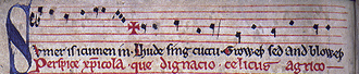 Sumer Is Icumen In - First line of the manuscript.
