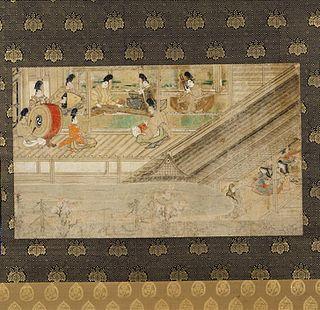 late 10th century Japanese narrative handscroll (emakimono)