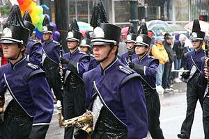 Sunset High School (Beaverton, Oregon) - The school's marching band in 2007