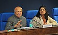 Sushil Kumar Shinde holding a press conference to present the Report Card of the Ministry of Home Affairs for the month of December, 2012, in New Delhi. The Principal Director General (M&C), Press Information Bureau.jpg