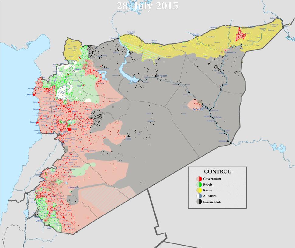 Syrian civil war 01 08 2015