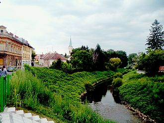 Szentgotthárd - City centre with the Rába River