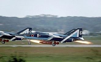 Blue Impulse - Blue Impulse T-2s performing in 1994