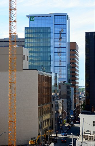 TD Centre (Halifax) - TD Tower before and after expansion – viewed from the west and south, respectively.