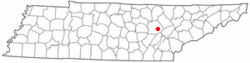 Location of Crab Orchard, Tennessee