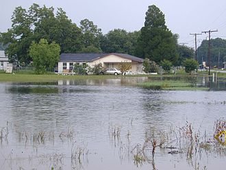 Tropical Storm Allison - Flooding in Chackbay, Louisiana