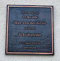 Tafel Max von der Grün Geburtshaus.JPG
