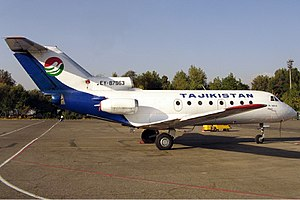 1993 Tajik Air Yakovlev Yak-40 incident - Tajik Air Yakovlev Yak-40, similar to that involved in the accident