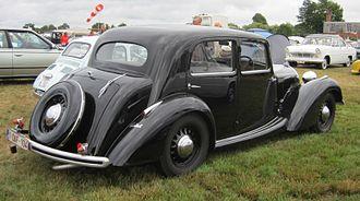 """Talbot Type T4 """"Minor"""" - Image: Talbot Lago Minor T4 1937 rear three quarters at Schaffen Diest 2013"""
