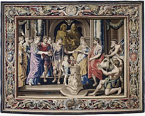 The History of Constantine - Image: Tapestry showing the Marriage of Constantine and Fausta