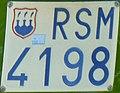 Targa automobilistica San Marino 1966 RSM 4198 decalcomania.jpg